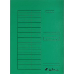 Pólyás dosszié, karton, A4, VICTORIA, zöld