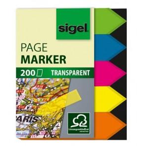 """Jelölőcímke, műanyag, 5x40 lap, 12x45 mm, SIGEL """"Nyilak"""", vegyes szín"""