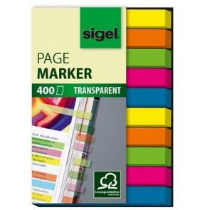 """Jelölőcímke, műanyag, 10x40 lap, 6x50 mm, SIGEL """"Micro"""", vegyes szín"""