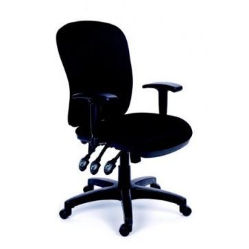 """Irodai szék, állítható karfával, fekete gyöngyszövet-borítás, fekete lábkereszt, MAYAH """"Comfort"""""""