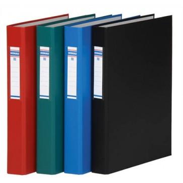 Gyűrűs könyv, 2 gyűrű, 40 mm, A4, PP/karton, DONAU, zöld