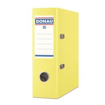 "Iratrendező, 75 mm, A5, PP/karton, DONAU ""Master"", citromsárga"