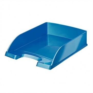"""Irattálca, műanyag, LEITZ """"Wow"""", metál kék"""