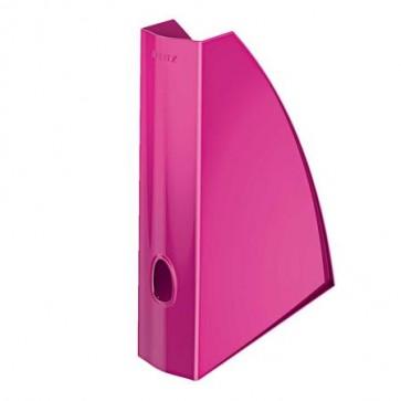 """Iratpapucs, műanyag, 60 mm, elöl nyitott, LEITZ """"Wow"""", metál rózsaszín"""