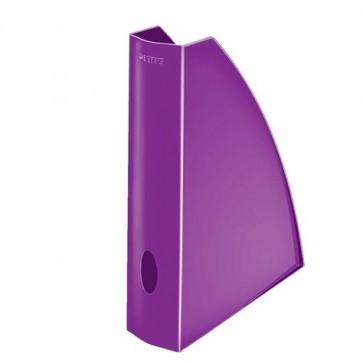 """Iratpapucs, műanyag, 60 mm, elöl nyitott, LEITZ """"Wow"""", metál lila"""
