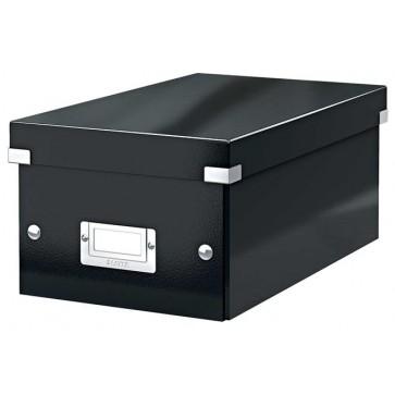 """DVD tároló doboz, lakkfényű, LEITZ """"Click&Store"""", fekete"""