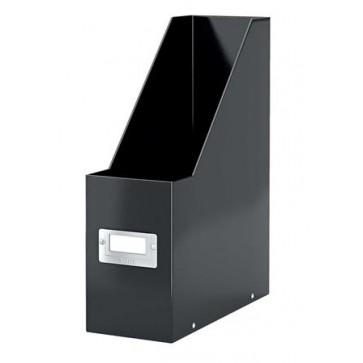 "Iratpapucs, PP/karton, 95 mm, lakkfényű, LEITZ ""Click&Store"", fekete"