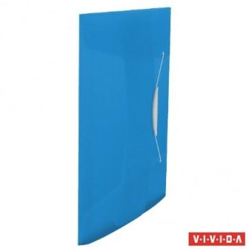 "Gumis mappa, 15 mm, PP, A4, ESSELTE ""Vivida"", kék"