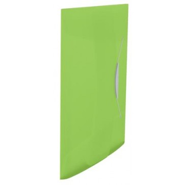 "Gumis mappa, 15 mm, PP, A4, ESSELTE ""Vivida"", zöld"