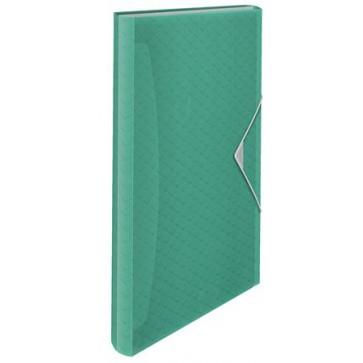 "Harmonikamappa, A4, PP, 6 rekeszes, ESSELTE ""Colour`Ice"", zöld"