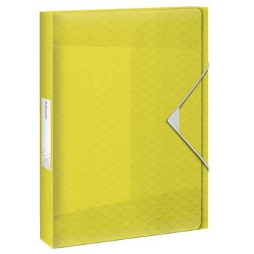 "Gumis mappa, 25 mm, PP, A4, ESSELTE ""Colour`Ice"", sárga"