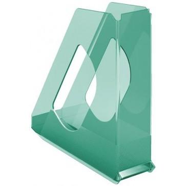 "Iratpapucs, műanyag, 68 mm, ESSELTE ""Colour`Ice"", zöld"