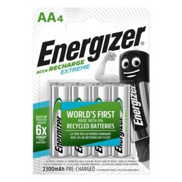 """Tölthető elem, AA ceruza, 4x2300 mAh, előtöltött, ENERGIZER """"Extreme"""""""