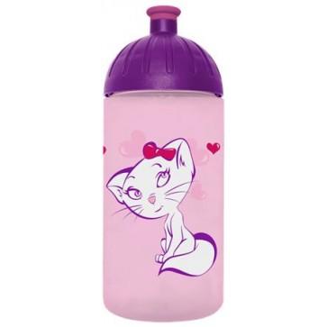 """Kulacs, higiénikus műanyagból, 0,5L, FREEWATER """"Cica"""", rózsaszín"""
