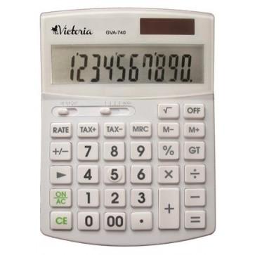 """Számológép, asztali, 10 számjegy, VICTORIA """"GVA-740"""", fehér"""
