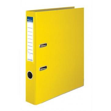 """Iratrendező, 50 mm, A4, PP/karton, élvédő sínnel, VICTORIA, """"Basic"""", sárga"""