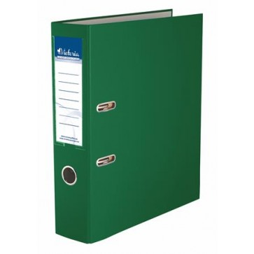 "Iratrendező, 75 mm, A4, PP/karton, VICTORIA, ""Basic"", zöld"