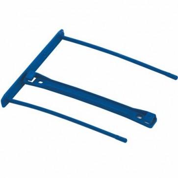 Lefűzőklip, műanyag, 100 mm, FELLOWES, Bankers Box® Pro, kék