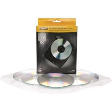 CD/DVD boríték, műanyag, átlátszó, FELLOWES