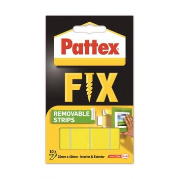"""Ragasztócsík, kétoldalú, visszaszedhető, 20 x 40 mm, HENKEL """"Pattex Fix"""""""