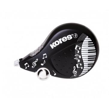 "Hibajavító roller, 4,2 mm x 8 m, KORES ""Scooter Black&White"", vegyes"