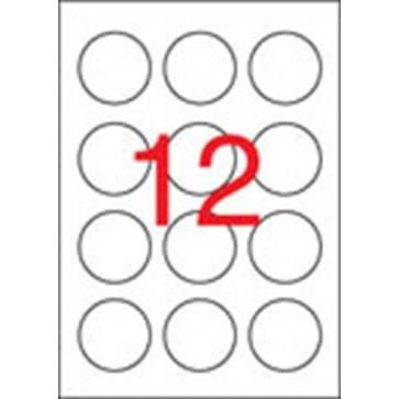 Etikett, 60 mm kör, APLI, 1200 etikett/csomag
