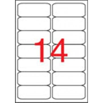 Etikett, univerzális, 99,1x38,1 mm, kerekített sarkú, APLI, 1400 etikett/csomag