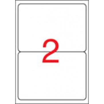 Etikett, univerzális, 199,6x144,5 mm, kerekített sarkú, APLI, 200 etikett/csomag