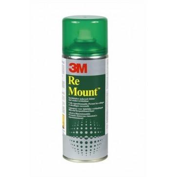 "Ragasztó spray, 400 ml, 3M SCOTCH ""ReMount"""