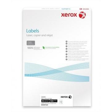 Etikett, univerzális, 38,1x21,2 mm, kerekített sarkú, XEROX, 6500 etikett/csomag