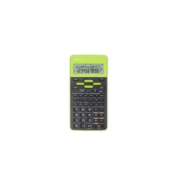 """Számológép, tudományos, 272 funkció, SHARP """"EL-531"""", zöld"""