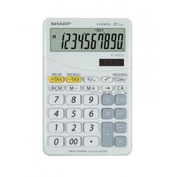 """Számológép, asztali, 10 számjegy, SHARP """"EL-M332"""", fehér"""