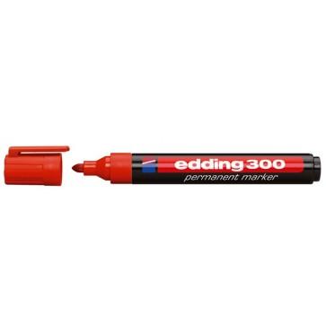 """Alkoholos marker, 1,5-3 mm, kúpos, EDDING """"300"""", piros"""