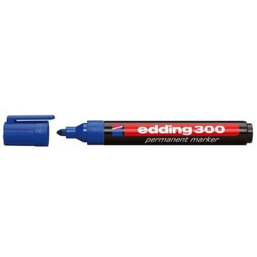 """Alkoholos marker, 1,5-3 mm, kúpos, EDDING """"300"""", kék"""