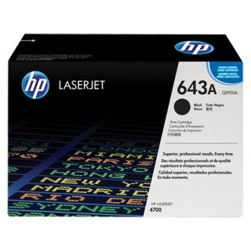 Q5950A Lézertoner ColorLaserJet 4700 nyomtatóhoz, HP 643A, fekete, 11k