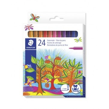 """Rostirón készlet, 1 mm, STAEDTLER """"325"""", 24 különböző szín"""