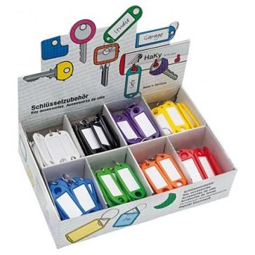 Kulcscímke display 200 db, kulcskarikával, WEDO, 8 különböző színben