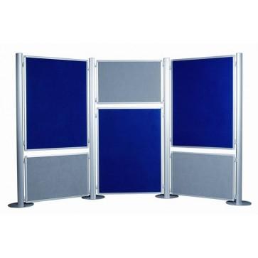 Display panel, 60x90 cm, kétoldalas, textil, szürke/kék