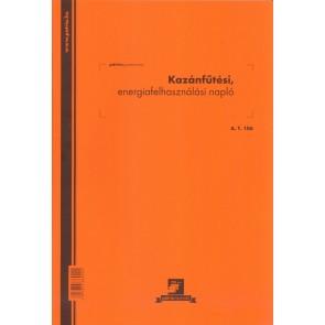 """Nyomtatvány, kazánfűtési napló, 32 lap, A4, álló, PÁTRIA """"A.T.106"""""""