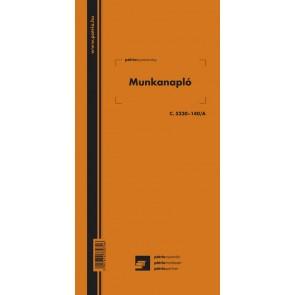 """Nyomtatvány, munkanapló, 100 lap, 292x140 mm, álló, PÁTRIA """"C.5230-140/A"""""""