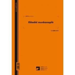"""Előadói munkanapló 20 lapos füzet A/4 álló """"C.5230-315"""""""