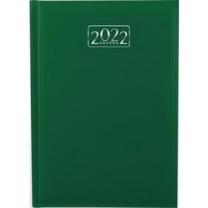 Naptár, tervező, A5, napi, VICTORIA, zöld (2022 évi)