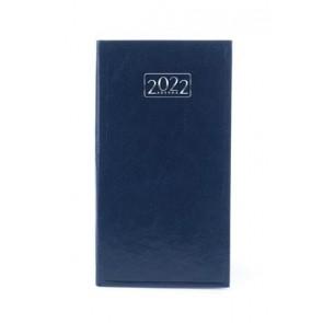 Zsebnaptár, álló elrendezésű, VICTORIA, kék (2022 évi)