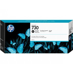 P2V73A XL Tintapatron DesignJet T1600, T1700, T2600 nyomtatókhoz, HP 730, fotó fekete, 300 ml