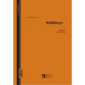 """Nyomtatvány, kútkönyv, 50x2 lap, A4, álló, PÁTRIA, """"D.AKOV.7"""""""