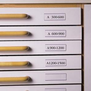 Címketartó zseb, 30x150 mm, öntapadó, fiókhoz, 3L
