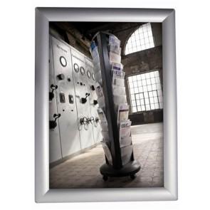 Plakáttartó, fali, A4, alumínium keret, ALBA, ezüst