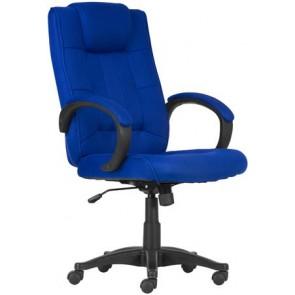 """Főnöki szék, szövetborítás, fekete lábkereszt, """"MODUS T"""",kék"""