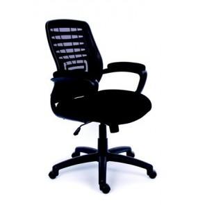"""Irodai szék, karfás, fekete szövetborítás, hálós háttámla, fekete lábkereszt, MAYAH """"Smart"""""""