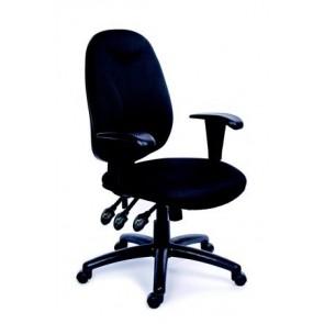 """Irodai szék, állítható karfás, exkluzív fekete szövetborítás, fekete lábkereszt, MAYAH """"Energetic"""""""